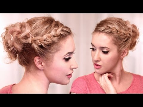 curly-updo-hairstyle-tutorial-❤-knotted-braid-for-medium-long-hair