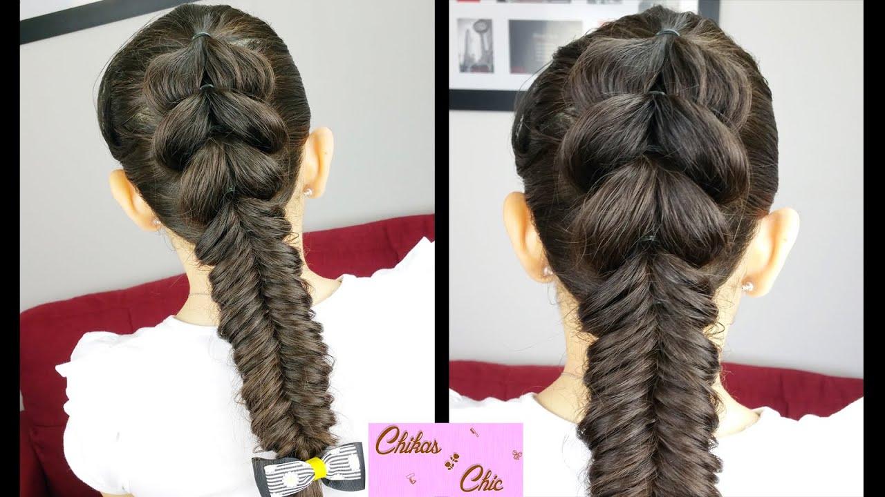 Pull through fishtail merged braids braided hairstyles cute pull through fishtail merged braids braided hairstyles cute girly hairstyles sport hairstyle youtube urmus Images