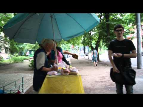 Видео, Бабка пирожок в Днепропетровске