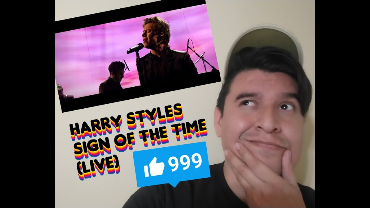 || REACCION || HARRY STYLES - SIGN OF THE TIME (LIVE)