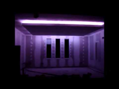 placo faux plafond avec led alger algerie youtube. Black Bedroom Furniture Sets. Home Design Ideas