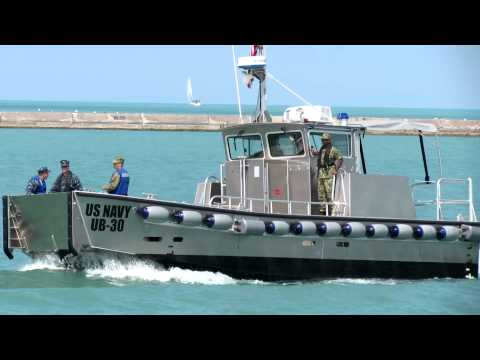 U.S. Navy MPFUB boats from FFG-45 moor at Navy Pier 08.14.2012