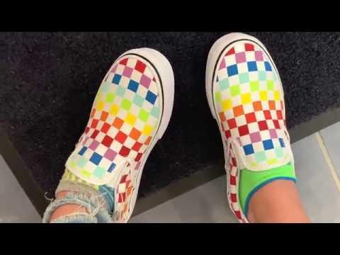 I Got Rainbow Checkered Vans - YouTube