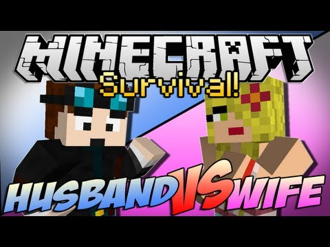 "Thumbnail: Minecraft | HUSBAND vs WIFE SURVIVAL! | Episode 1 ""Chicken Showdown"""