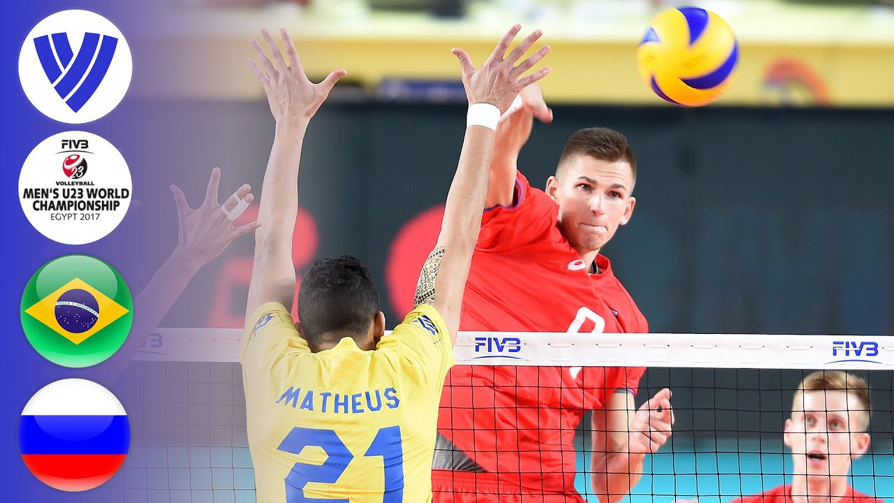 BRA vs. RUS - Full Match | Semifinal | Men's U23 World Championship 2017