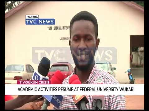 Academic activities resume at Federal University Wukari