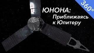 Юнона пролетая мимо Юпитера Панорамное видео  360