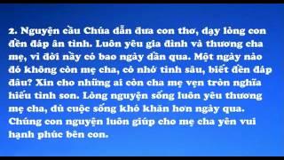 323 - Nguyện Cầu Cho Cha Mẹ