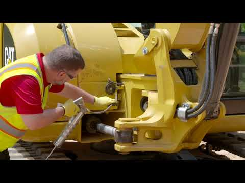 Grease Swing Bearing And Swing Gear On Cat® E2 Mini Excavators