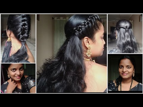 5-easy-saree-hairstyles//for-working-women's-&-collage-girls,-house-wifes-😍😍//-no-tools-need.