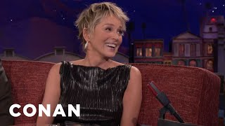 Sharon Stone Did Martial Arts With Her Three Sons  - CONAN on TBS