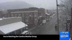 Skycam: Snowing in Boone, NC #ncwx