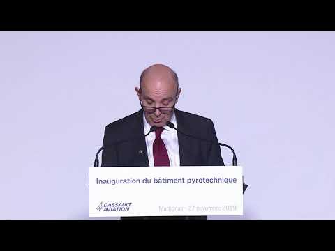 Inauguration des installations pyrotechniques de Martignas-sur-Jalle - Dassault Aviation
