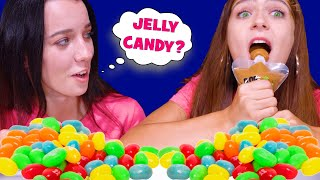 REAL FOOD VS JELLY BELLY CANDY | ASMR EATING CHALLENGE by LiLiBu