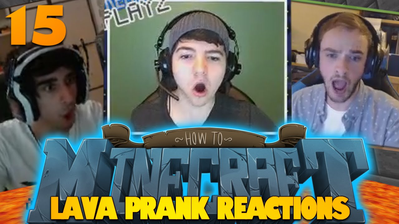 How To Minecraft   #15   How To Prank People   REACTIONS ...