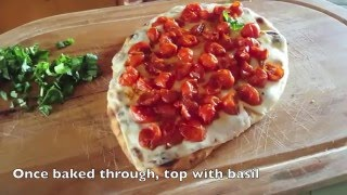 Simple Margherita Flatbread Pizza with Balsamic Reduction