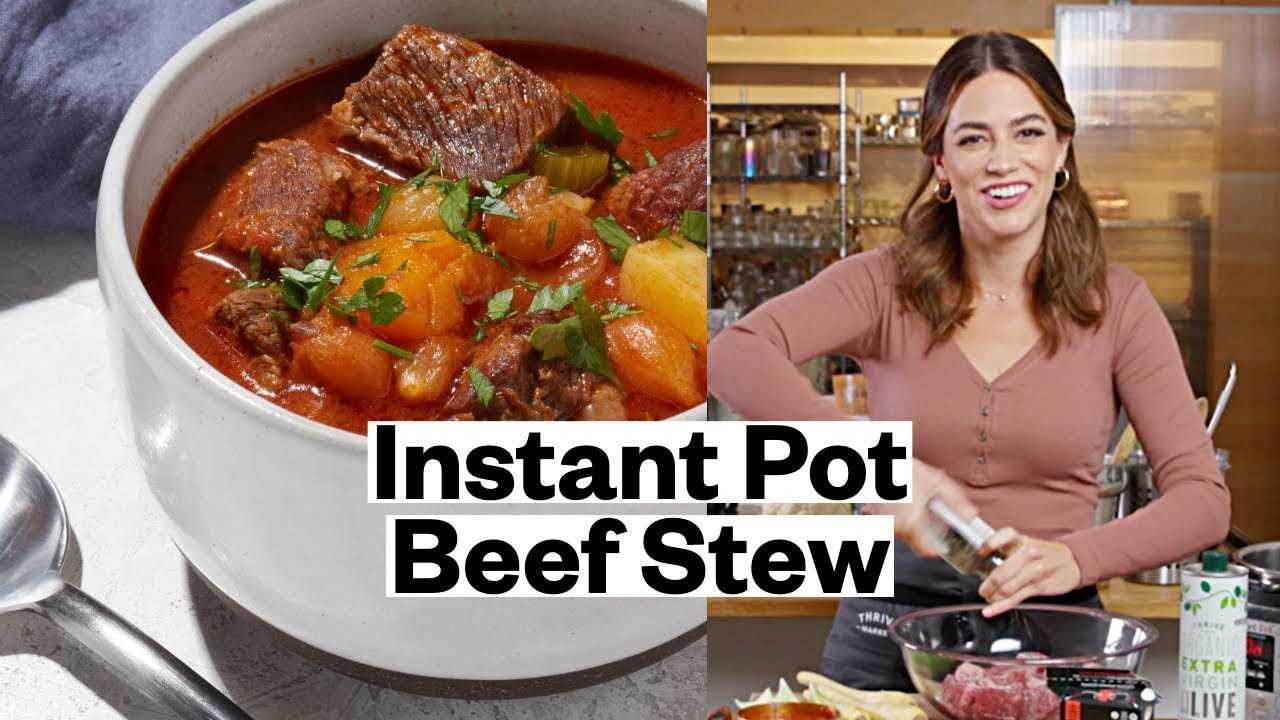 Instant Pot Beef Stew Keto Whole30 Thrive Market Youtube