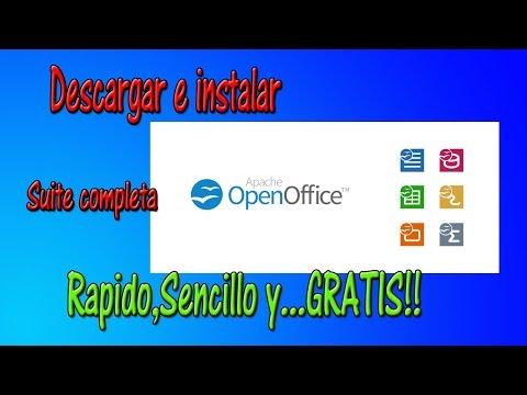 Descargar E Instalar OpenOffice ,paso A Paso GRATIS |HD 1080p| TUTORIAL
