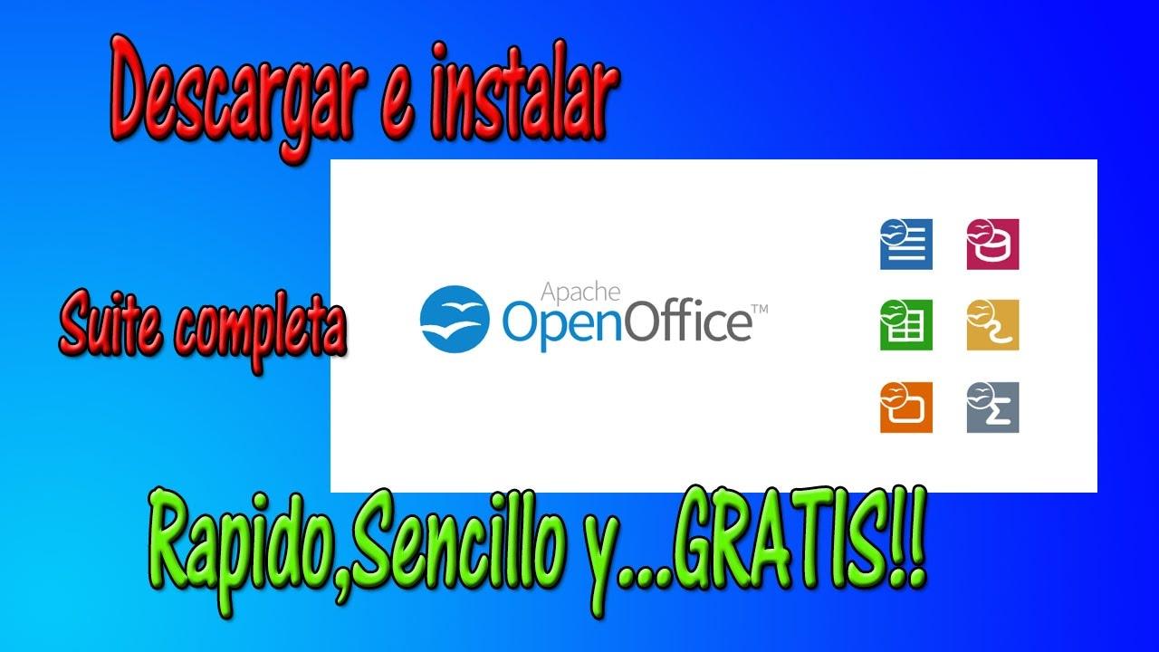 descargar openoffice full gratis español