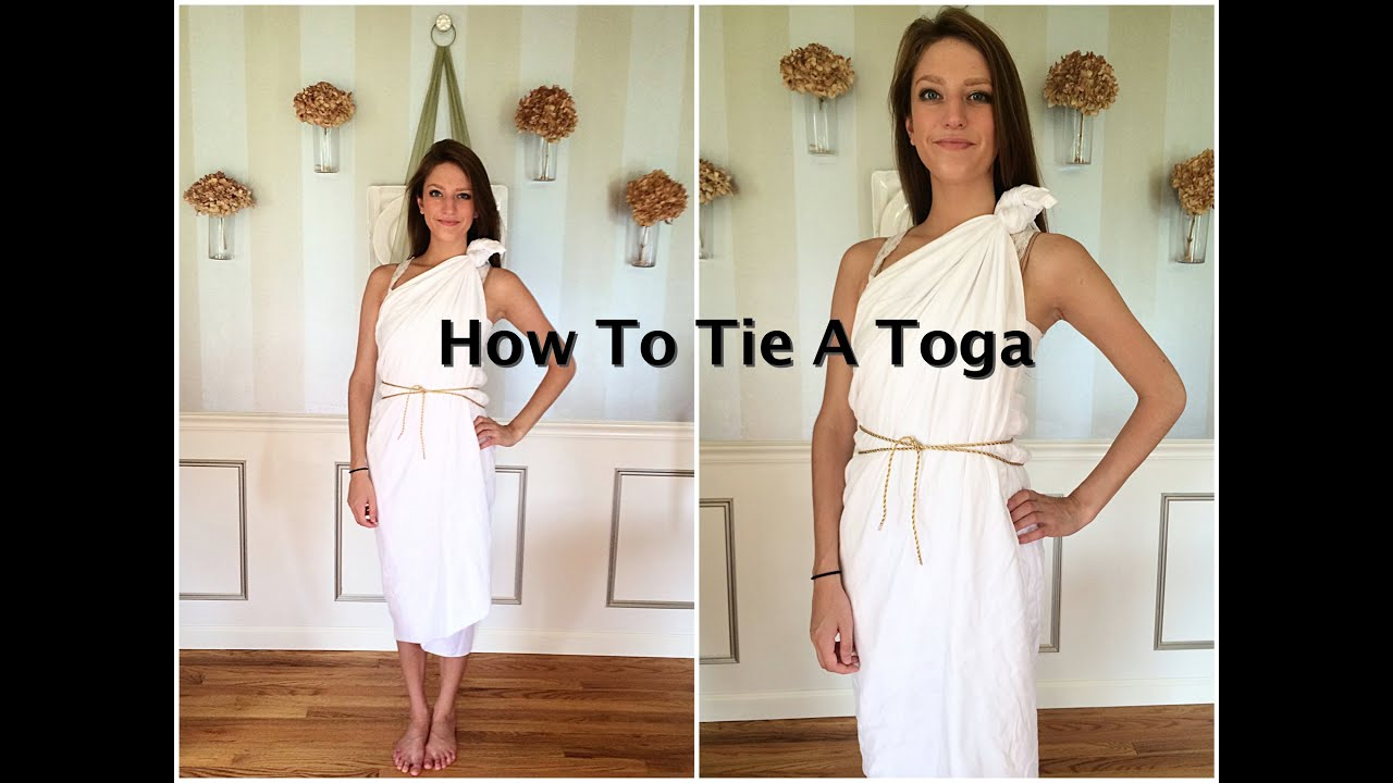 bf1a250ef How To Tie A Toga Tutorial - YouTube
