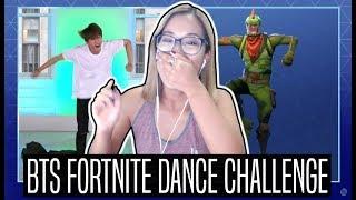 BTS FORTNITE DANCE CHALLENGE REACTION | Jimmy Fallon