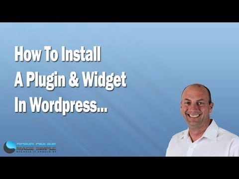 How To Install a Plugin and Widget in WordPress