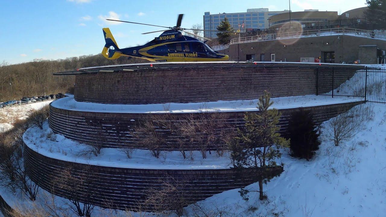 Download Michigan Medicine Survival Flight - N156UM Take Off -  N157UM Landing -  30 Minutes - High View