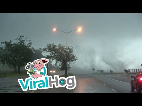 Waterspout And Tornado On Long Beach || ViralHog