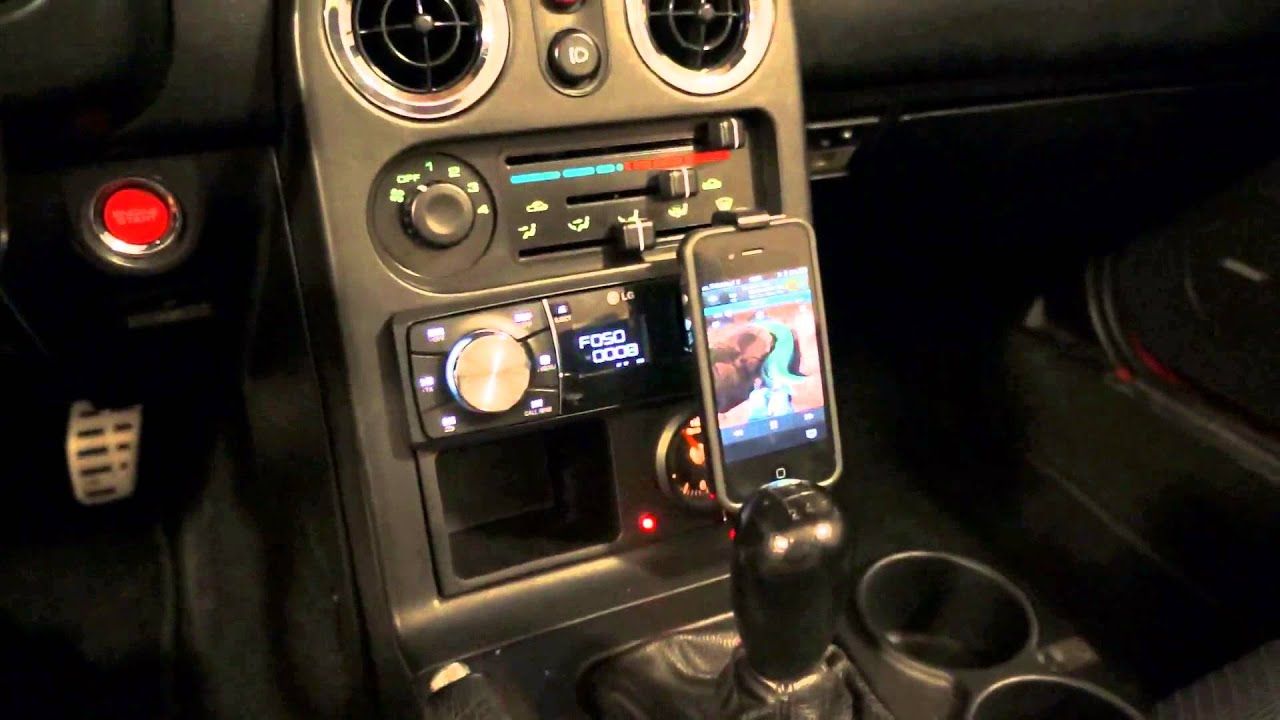 New Mazda Miata >> Mazda mx-5 NA - radio LG MAX620BO - YouTube