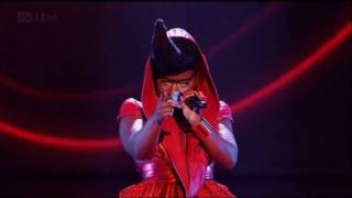 Misha B is red-y for our scary Halloween night - The X Factor 2011 Live Show 4 (Full Version) YouTube Videos
