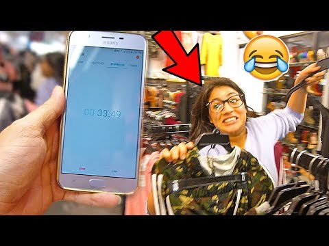 Girlfriend Attempts The NO BUDGET Challenge In 60 Seconds!!