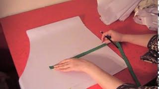 Пошив пелеринки - урок 2 (кроим капюшон)