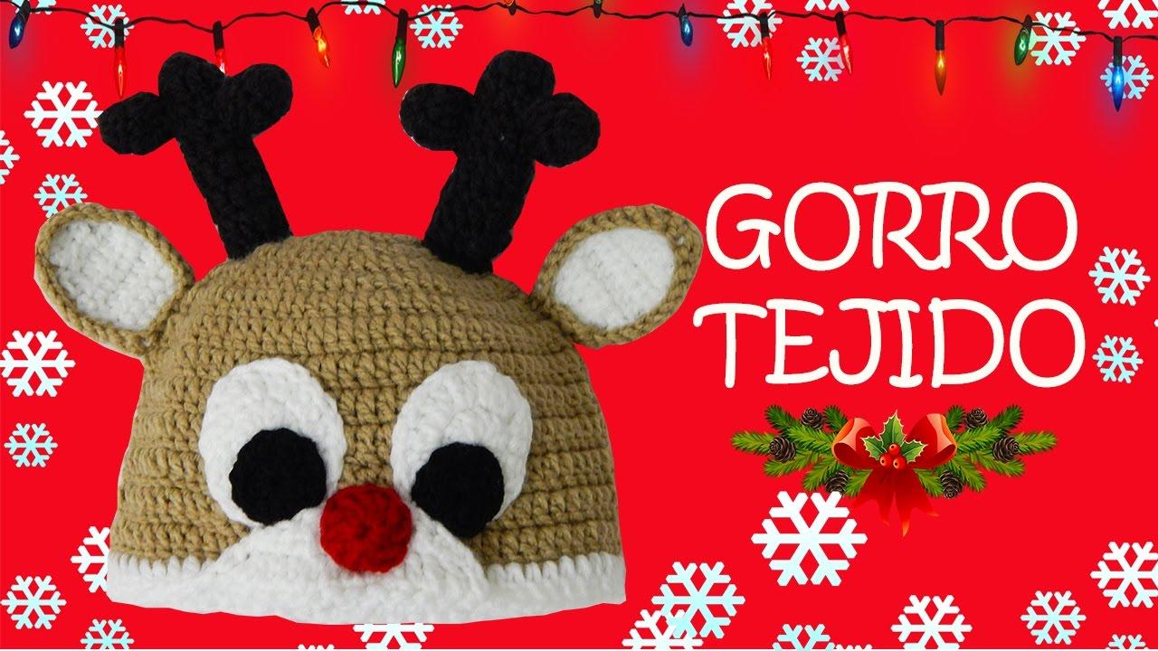 d264acbc7c20c Gorro de Reno tejido a crochet