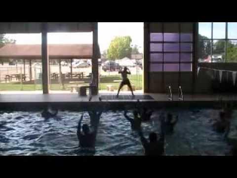 """Z Dance Crew Gadsden, Al Aqua Fitness (Megan) """"Dance Dance Dance""""-pop"""