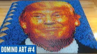 DONALD TRUMP MADE FROM 8,600 DOMINOES | Domino Art #4