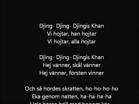 Vikingarna Djinghis Khan (Lyrics)