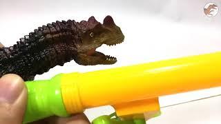 Funny Dinosaurs Story   Kentrosaurus, Triceratop Save Velociraptor from Ceratosaurus, Spinosaurus