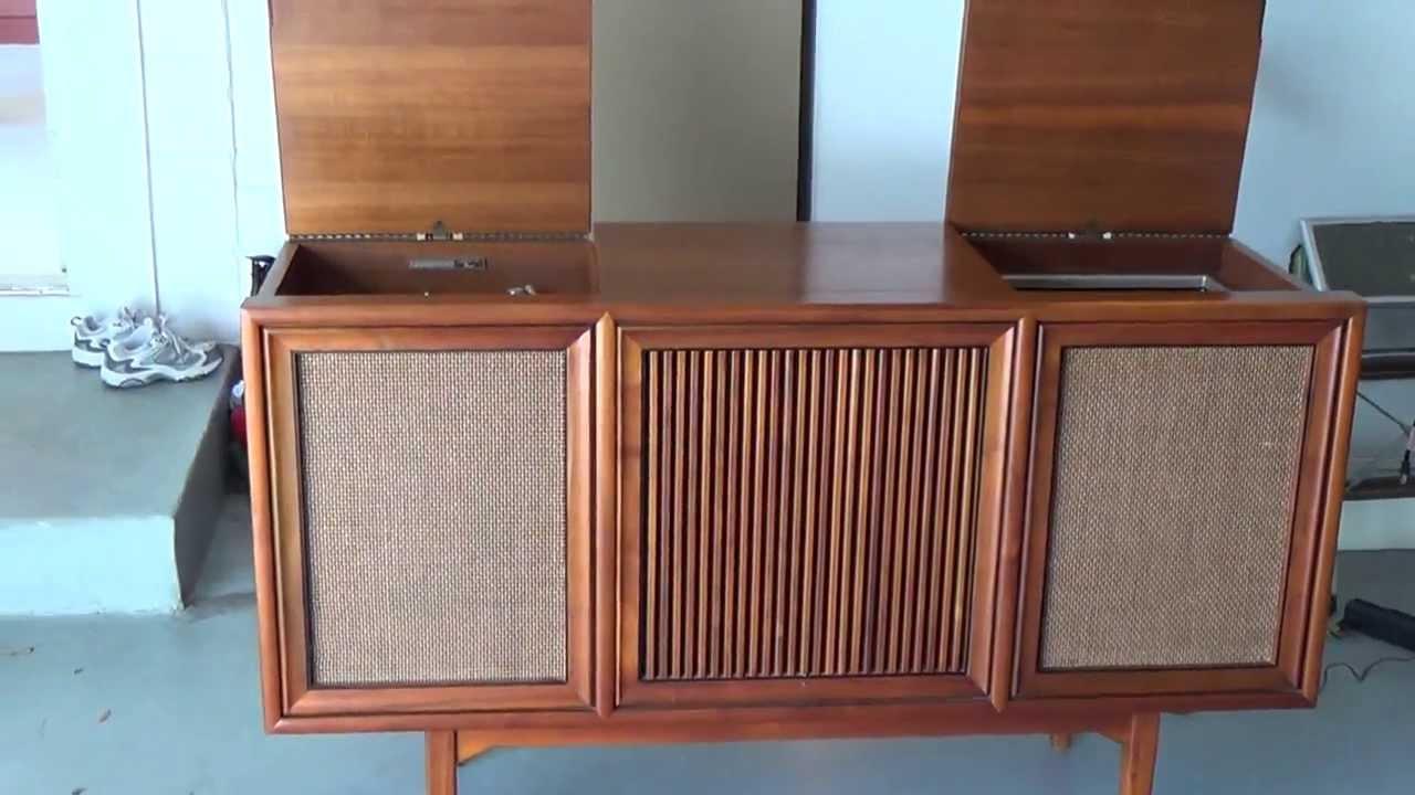 1964 Motorola Stereo Console - YouTube