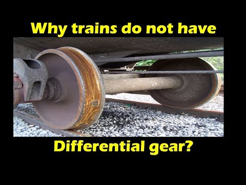 Why trains do not have differential gear?