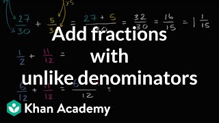 Adding fractions with unĮike denominators
