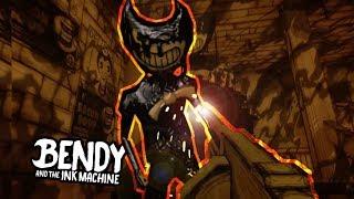 qu pasa si le disparo a bendy demonio de tinta bendy and the ink machine