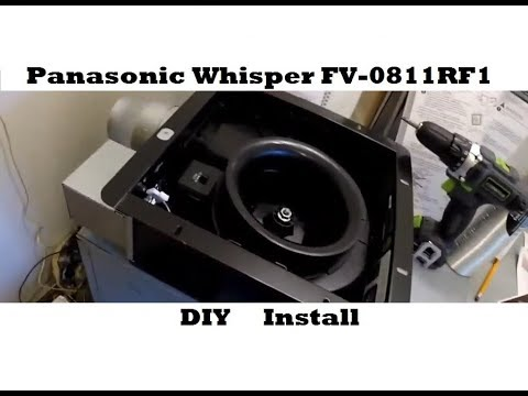 DIY Bathroom Exhaust Fan Install - Panasonic Whisper FV-0811RF1