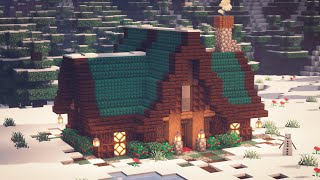 Minecraft | How to Build a Winter Cabin | Winter Cottage
