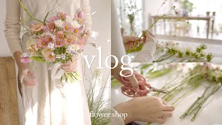 ENG / flower shop vlog | 좋아하는 …