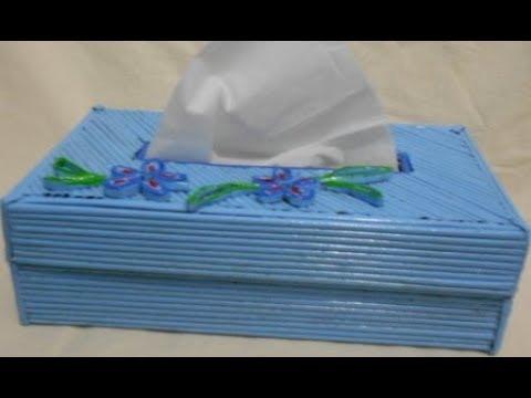 tutorial membuat kotak tisu dari kardus bekas - YouTube 2b4a8fbcb7