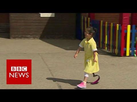 Amazing reaction to Anu's new blade - BBC News