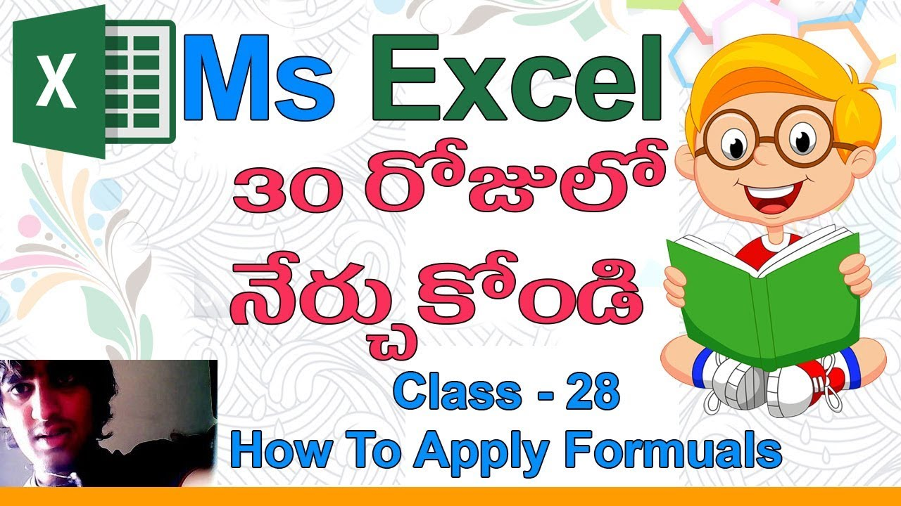 Ms Excel Formulas in Telugu   Class   20  ??  How To Apply Formulas &  Functions