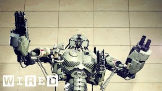 How to Make Tech for a Giant Robot Mech (5/7) - YouTube Geek Week - WIRED