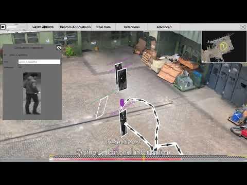 Toward Mass Video Data Analysis: Interactive and Immersive 4D Scene Reconstruction