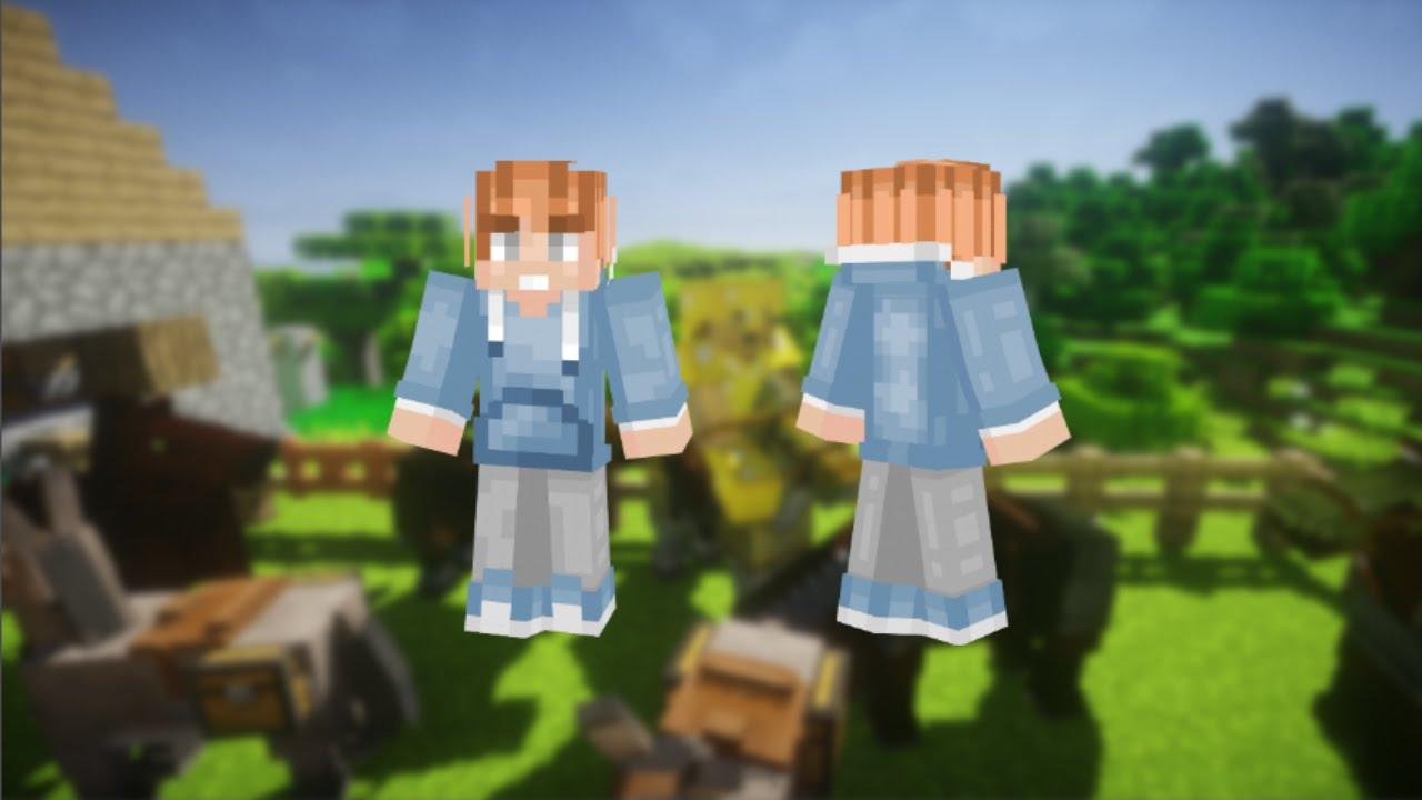 Blue Hoodie Boy Minecraft Skin